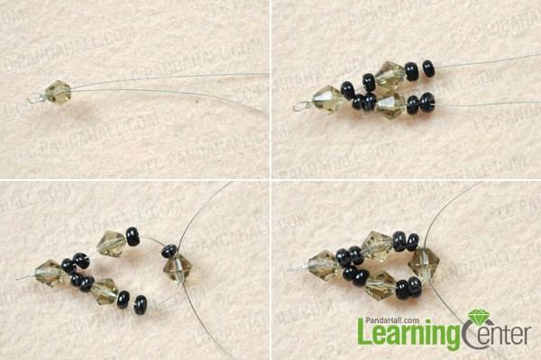 Make the half beaded chain for skull beaded bracelet