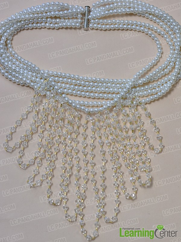 How to Make a Beaded Cluster Wedding Necklace with Pearl Beads and ...