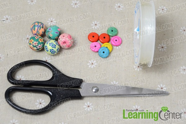Necessities for this polymer clay bracelet: