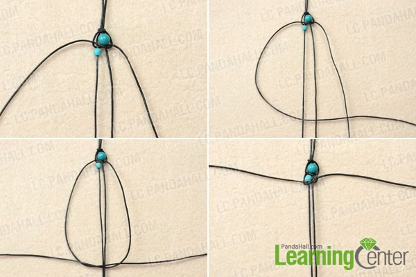 String turquoise beads for best friend leather bracelets