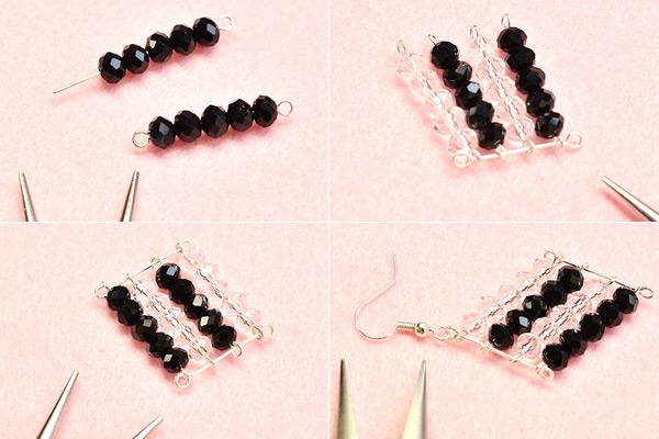 Beebeecraft Black And White Gl Crystal Bead Weaving
