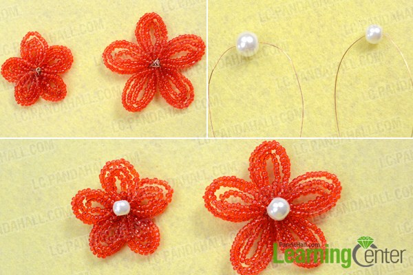 Finish beaded bridal hair accessories