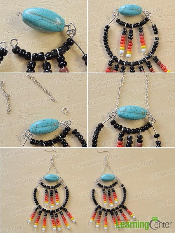 make the rest part of the black seed bead hoop earrings