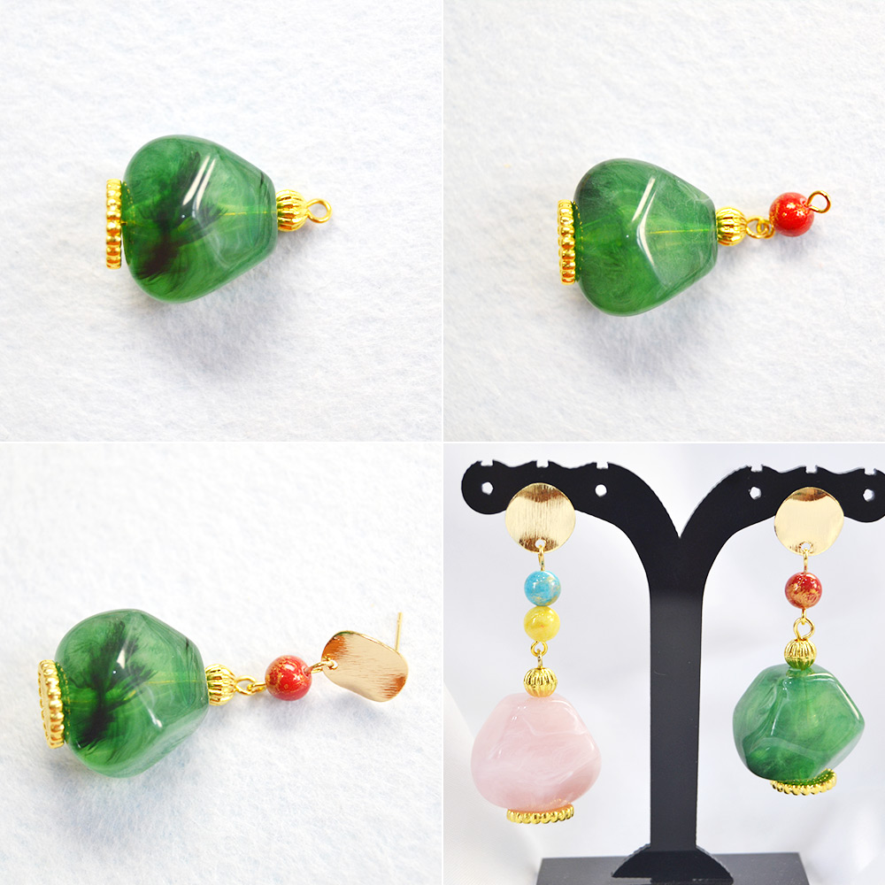 Main steps of making this earrings.