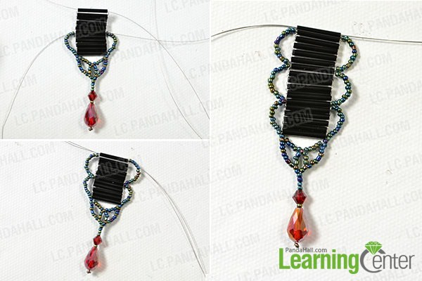 make the middle part of the vintage seed bead necklace2