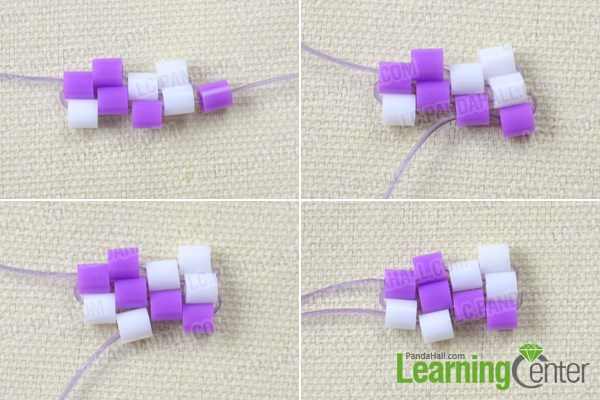Make the basic pattern of the perler bead bracelet tutorial