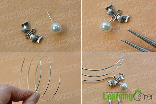 Make pearl and bowknot dangle