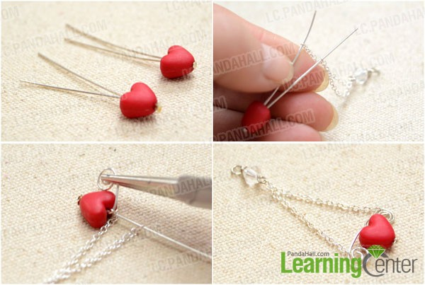Make the heart bead dangle
