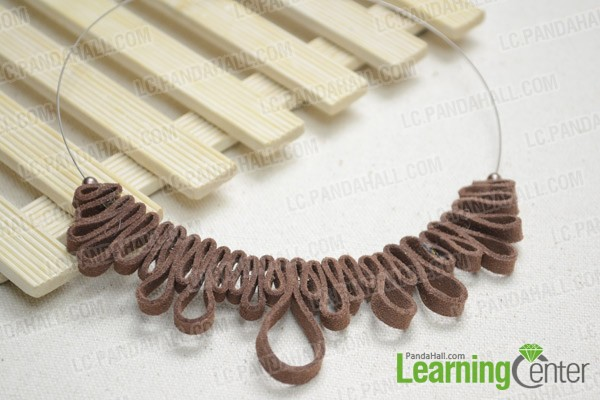 The final suede cord necklace will look like this: