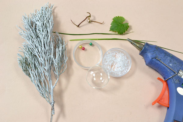 supplies needed in DIY the glass bead plant home décor crafts
