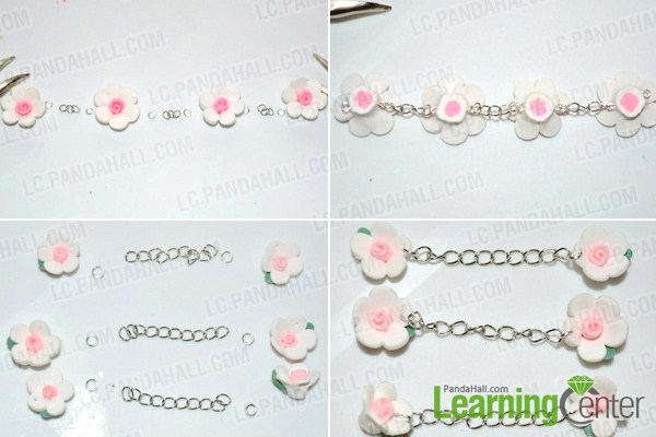 Make polymer clay bead necklace