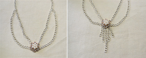 How to Make Easy Flower Bead Chain Necklace in 10 Minutes 2