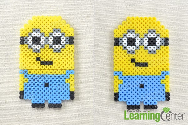 Finish perler bead minion pattern