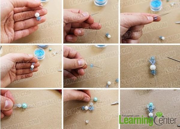 make the bottom part of the earring pendant