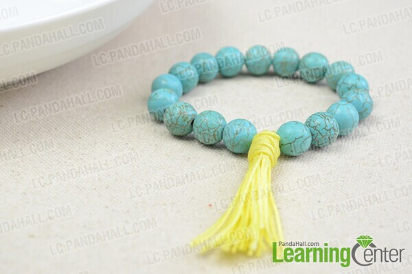 finish the Tibetan prayer beads bracelet