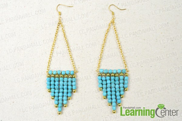 How To Make Sunburst Statement Earrings With Turquoise