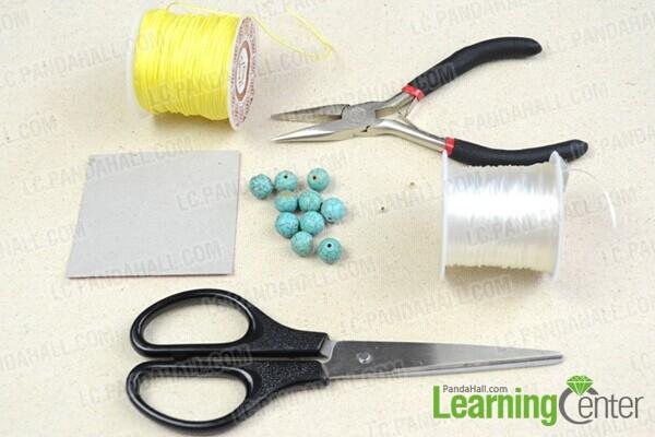 materials for DIY Tibetan prayer beads bracelet