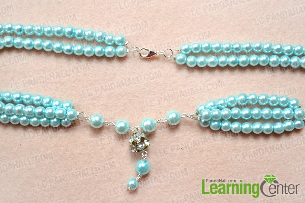 Finish beaded long fashion necklace designs