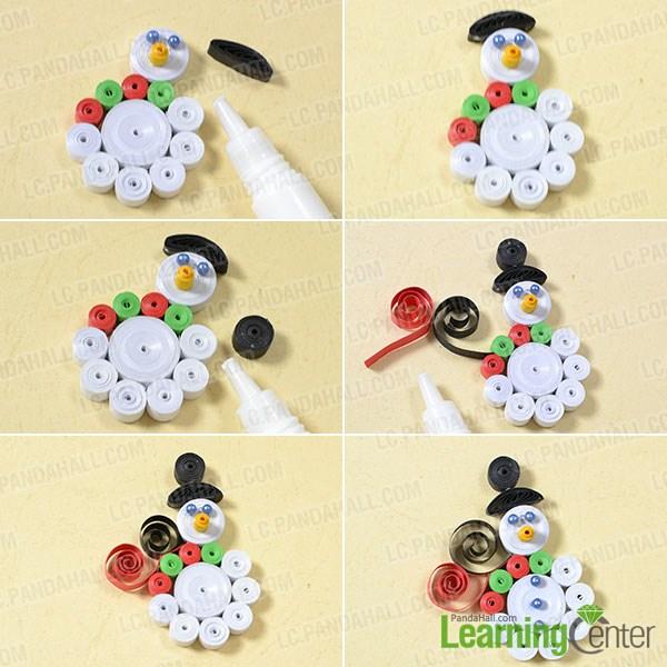 Make the final Christmas snowman design