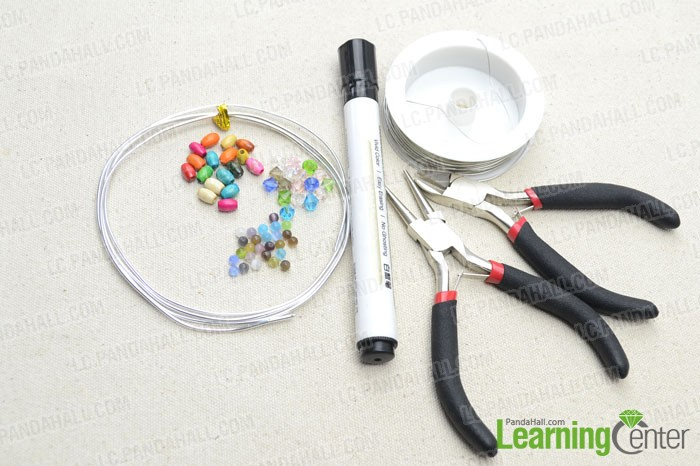 Supplies needed in the wire wrapping tutorial