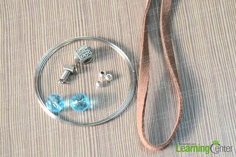 materials for sliding knot bracelet