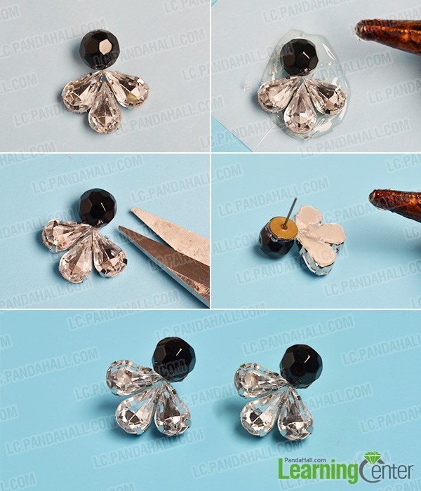 how to make glass bead earrings just in seconds