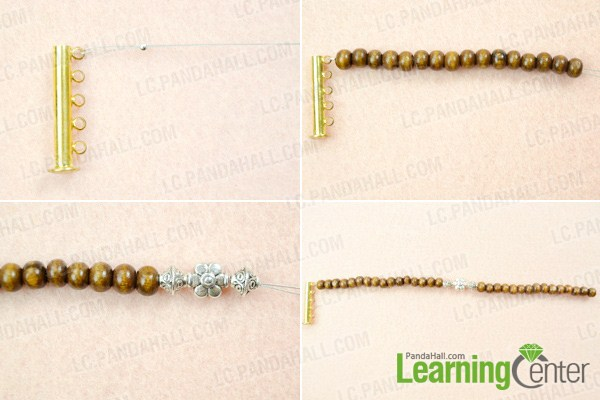 Make basic beaded bracelet for men