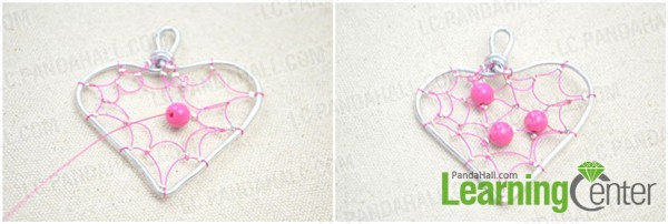 finish the DIY heart pendant necklace