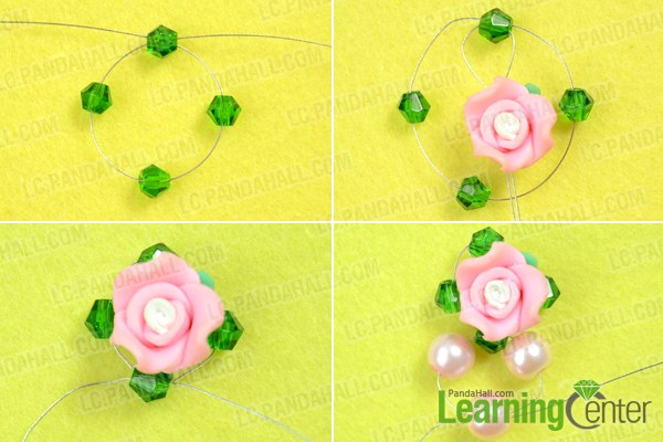 Instruction on how to make bead earrings at home
