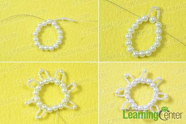 make the pearl flower pendant