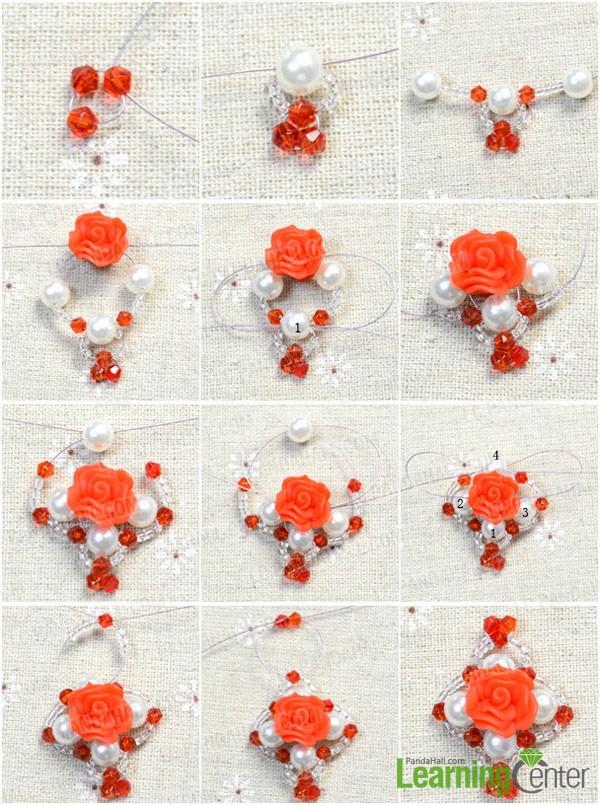 make the beaded flower
