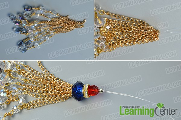 Finish the beaded chain tassel