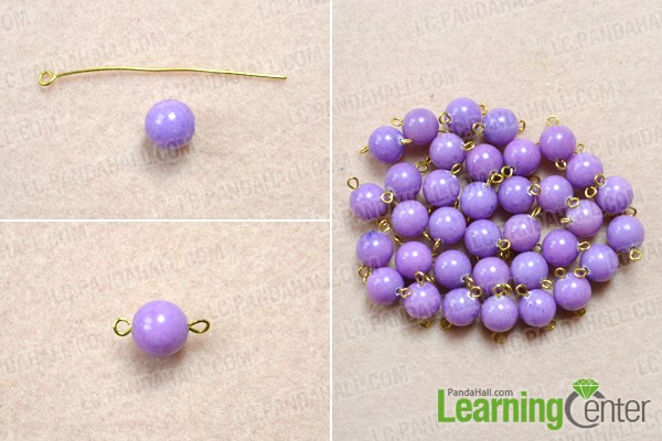 Make bead-link chain for the handmade necklace