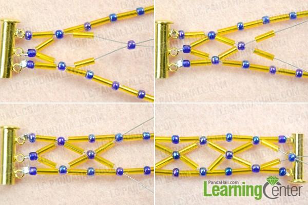 make  bugle bead bracelet patterns