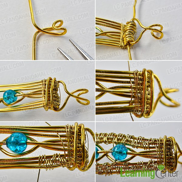 make the rest part of the golden wire wrapped bracelet