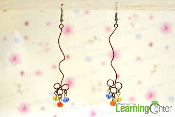 finished twisted wire earrings pattern