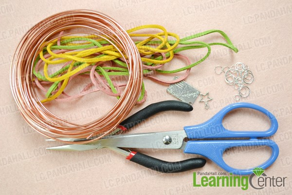 Materials needed in making a single braided bracelet