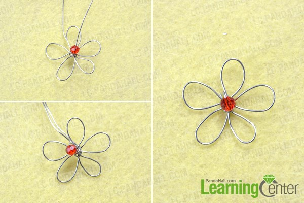 Make the wire wrapped flower tutorial