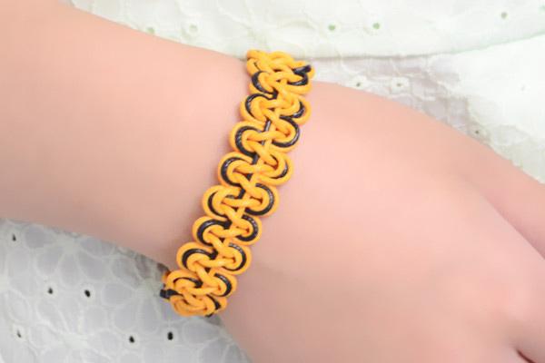 how to make a double wave friendship bracelet