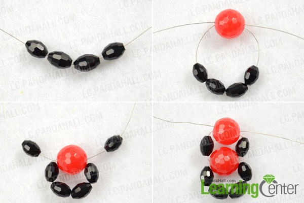 Instruction on how to make barrettes with beads