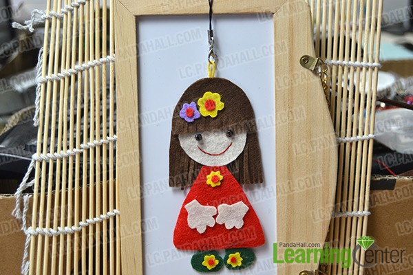 finished cute cartoon girl hanging decoration