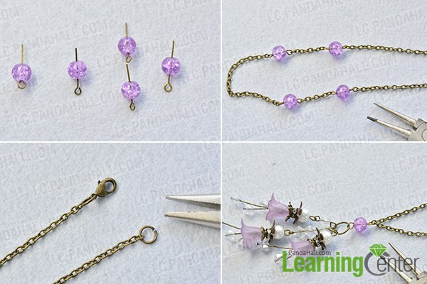 make the rest part of the purple flower pendant necklace