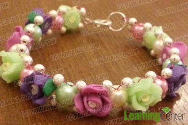 handmade beaded charm bracelet