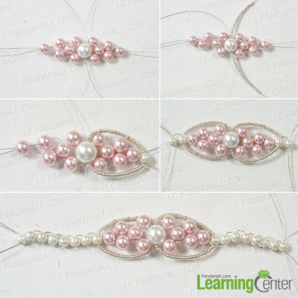 make the rest part of the charm pearl bracelet