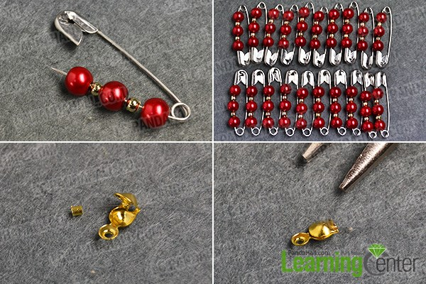 Step 1: Make iron pins pearl beaded patterns