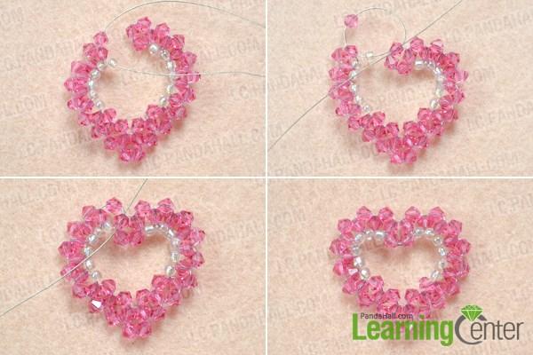 Make the beaded heart pendant pattern