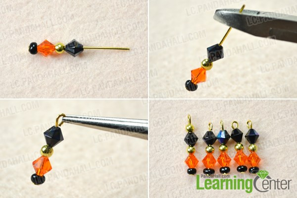 Make the dangles for Halloween earrings costume jewelry