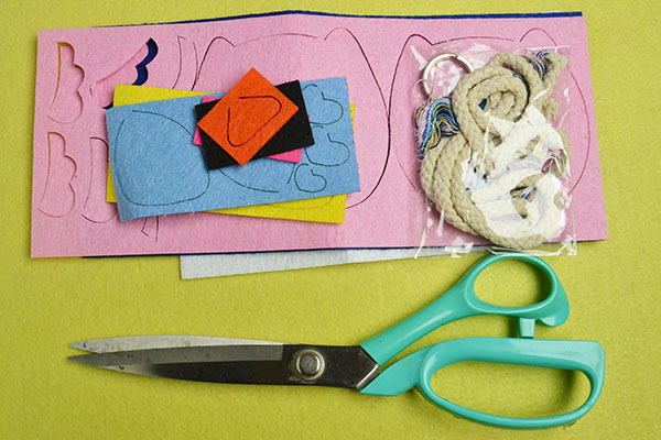 Supplies needed to make these cute key covers: