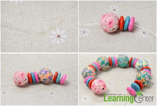 Step 1: Make polymer clay bead bracelet