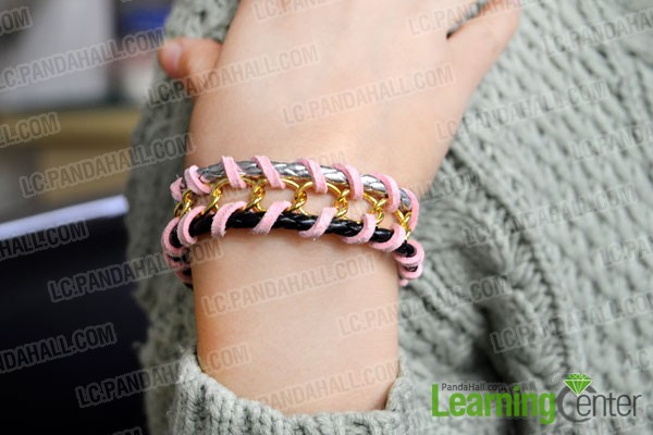 Finished woven chain bracelet tutorial